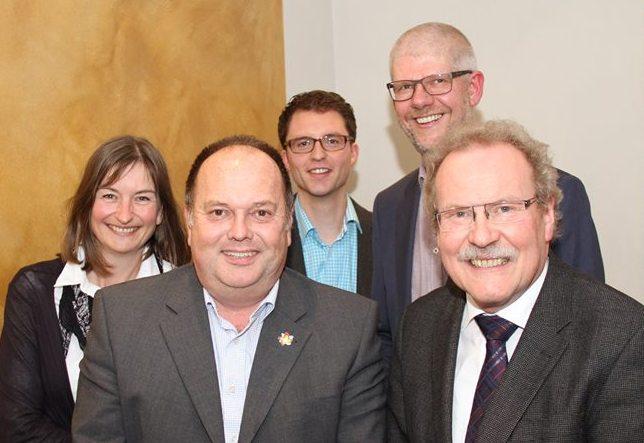 Der neue Vorstandsspitze: Christian Brockschnieder, Ursula Bartels, Bernhard Altehülshorst und Hans-Jürgen Brink